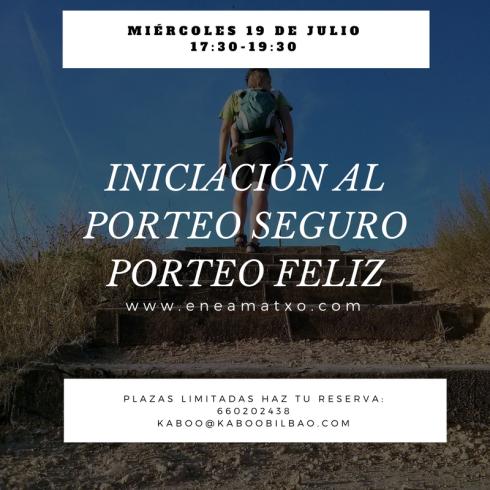 19Julio INICIACIÓN AL PORTEO SEGURO Kaboo