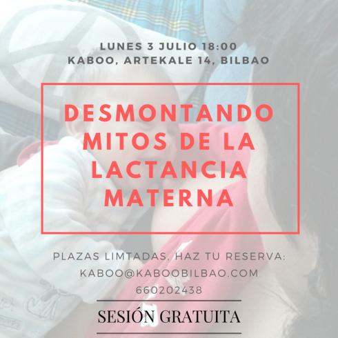 3Julio DESMONTANDO MITOS DE LA LACTANCIA Kaboo